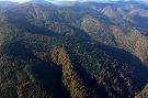 V pozadí vrch Lysá, pod ním dolina bývalej horskej osady Baranie.
