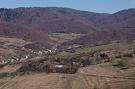 Výhľad na obec Milpoš. Oblasť Za Štolnu