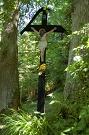 Ústredný kríž na dolnom cintoríne v osade Baranie