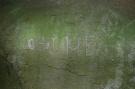 Nápis v Zbojníckej jaskyni
