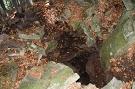 Zavalený vchod Fričkovskej jaskyne