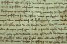 Ukážka listiny DL 64653 z roku 1330, kde sa pojednáva o vykonanej obhliadke spornej hranice medzi kráľovským majetkom zvaným Kyus-Aytout a majetkom Červenica [Weresalma] magistra Rycolpha.