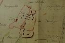 Bodovce na archívnej mape z roku 1848